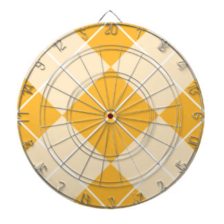 Pale Orange Sherbet Argyle Dart Board