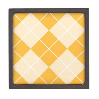Pale Orange Sherbet Argyle Gift Box