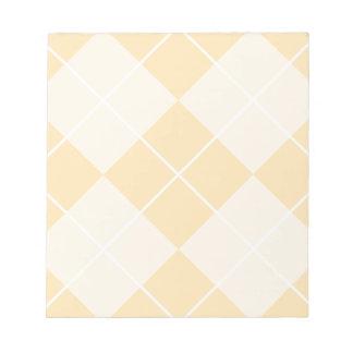 Pale Orange Sherbet Argyle Notepad