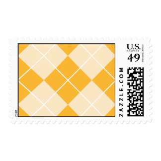 Pale Orange Sherbet Argyle Postage