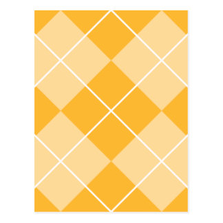 Pale Orange Sherbet Argyle Postcard