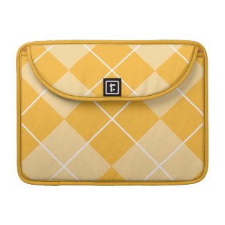 Pale Orange Sherbet Argyle Sleeve For MacBook Pro