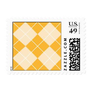 Pale Orange Sherbet Argyle Stamp