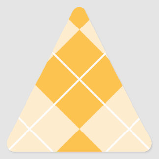 Pale Orange Sherbet Argyle Triangle Sticker