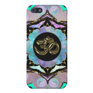 Pale Pastel Gold Om Moon Mandala iPhone Case iPhone 5 Cover