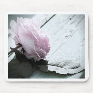 Pale Pastel Long Stem Rose on Deck Mouse Pad