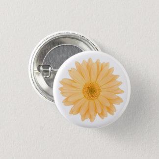 Pale Pastel Yellow Gerbera Daisy Flower Pinback Button