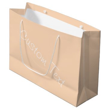 Professional Business Pale Peach Angelskin Coral Pastel Custom Text Large Gift Bag