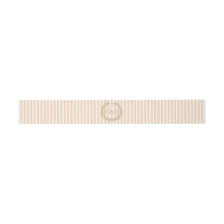 Pale Peach Angelskin Coral Pastel Wreath and Sprig Invitation Belly Band