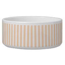 Pale Peach Angelskin Coral & White Stripe Bowl