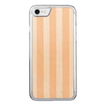 Beach Themed Pale Peach Angelskin Coral & White Stripe Carved iPhone 7 Case