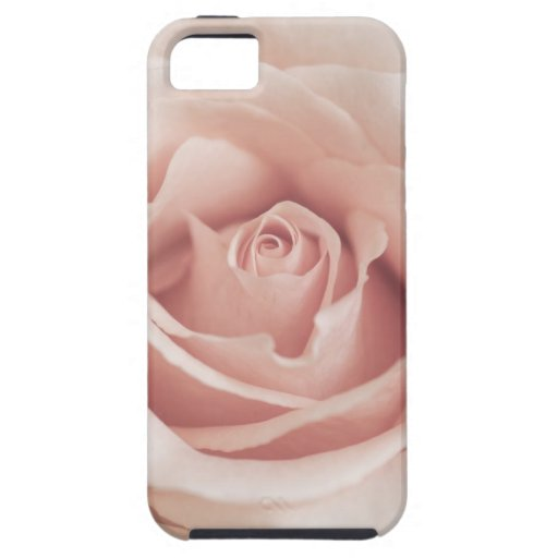 Pale Peach Antique Rose Background Customized iPhone 5 Cases