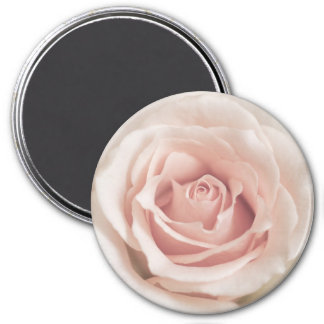 Pale Peach Antique Rose Background Customized 3 Inch Round Magnet