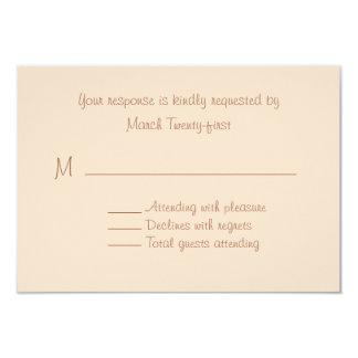 Pale Peach Custom Wedding RSVP Card