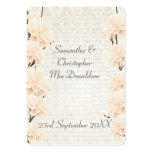 Pale peach floral wedding favor thank you tag large business card