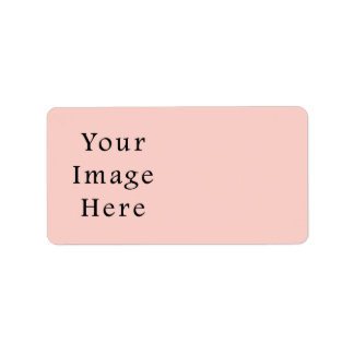 Pale Peach Light Pink Color Trend Blank Template Label