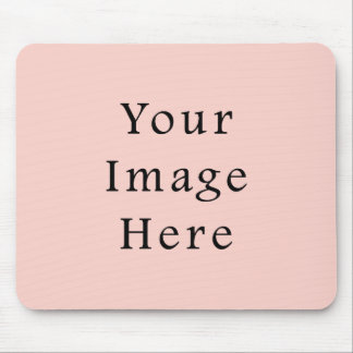 Pale Peach Light Pink Color Trend Blank Template Mouse Pad