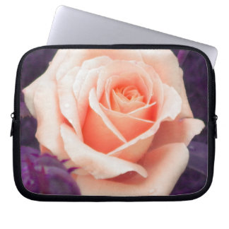 Pale Peach Rose Laptop Sleeve