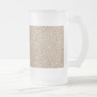 Pale Peachy Beige Cement Sidewalk 16 Oz Frosted Glass Beer Mug