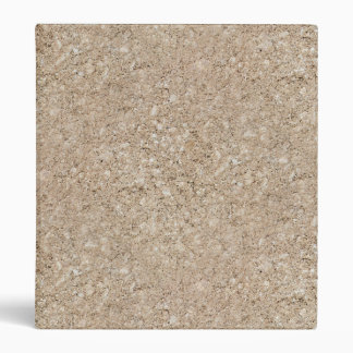Pale Peachy Beige Cement Sidewalk 3 Ring Binder