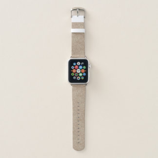 Pale Peachy Beige Cement Sidewalk Apple Watch Band