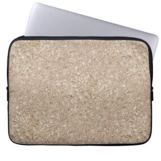 Pale Peachy Beige Cement Sidewalk Computer Sleeve