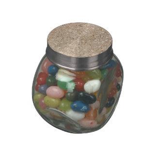 Pale Peachy Beige Cement Sidewalk Glass Jar