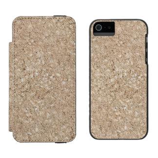 Pale Peachy Beige Cement Sidewalk iPhone SE/5/5s Wallet Case