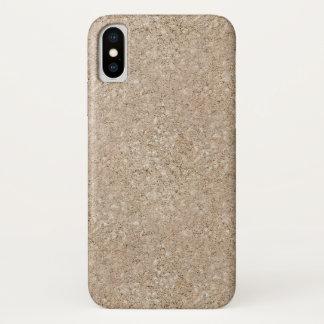 Pale Peachy Beige Cement Sidewalk iPhone X Case