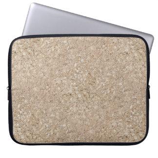 Pale Peachy Beige Cement Sidewalk Laptop Sleeves