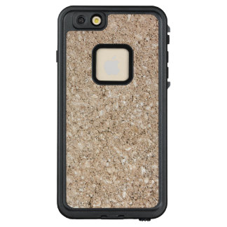 Pale Peachy Beige Cement Sidewalk LifeProof FRĒ iPhone 6/6s Plus Case