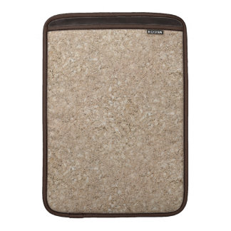 Pale Peachy Beige Cement Sidewalk MacBook Sleeves