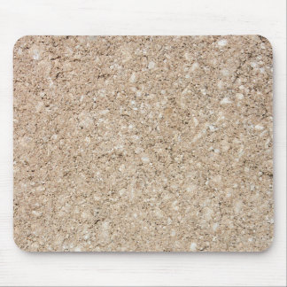 Pale Peachy Beige Cement Sidewalk Mouse Pad