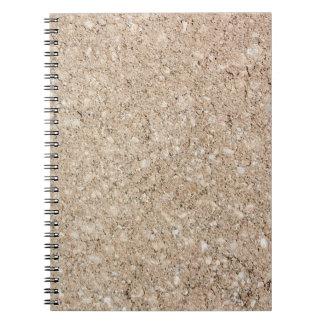 Pale Peachy Beige Cement Sidewalk Notebooks