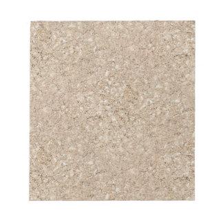 Pale Peachy Beige Cement Sidewalk Notepad