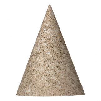 Pale Peachy Beige Cement Sidewalk Party Hat