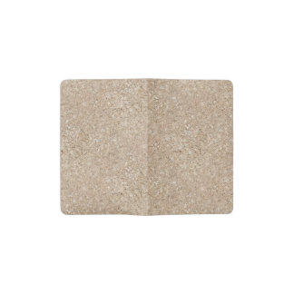 Pale Peachy Beige Cement Sidewalk Pocket Moleskine Notebook Cover With Notebook