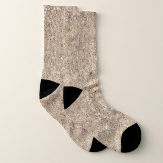 Pale Peachy Beige Cement Sidewalk Socks