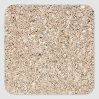 Pale Peachy Beige Cement Sidewalk Square Sticker