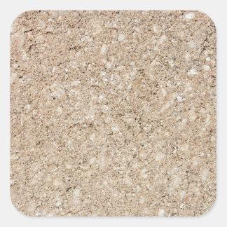 Pale Peachy Beige Cement Sidewalk Square Sticker