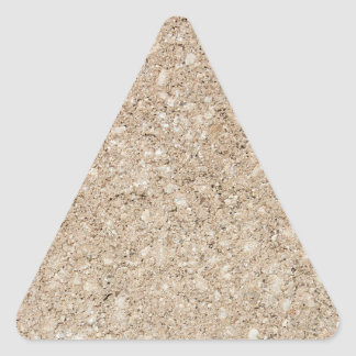 Pale Peachy Beige Cement Sidewalk Triangle Sticker
