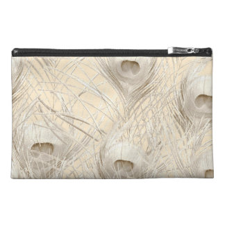 Pale Peacock Tablet sleeve Zippered pouch clutch