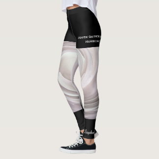 Pale Pink Abstract Swirl with Fake Black Shorts Leggings