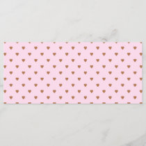 Pale pink and brown heart pattern.