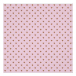 Pale pink and brown heart pattern. print