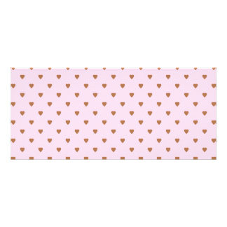 Pale pink and brown heart pattern. rack card