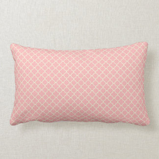 Pale Pink and cream ornate Throw Pillow