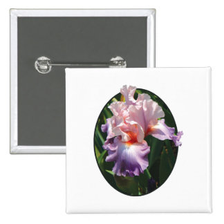 Pale Pink and Lavender Iris Pinback Button