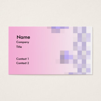 Pale Pink and Purple Squares Pattern. Business Card