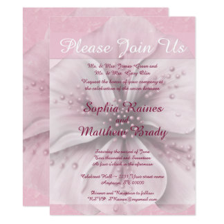 Pale Pink and White Floral Card